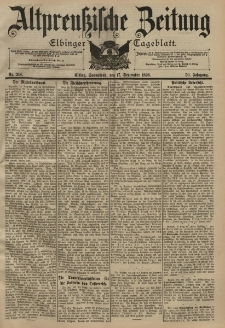 Altpreussische Zeitung, Nr. 218 Sonnabend 17 September 1898, 50. Jahrgang