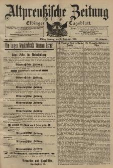 Altpreussische Zeitung, Nr. 219 Sonntag 18 September 1898, 50. Jahrgang