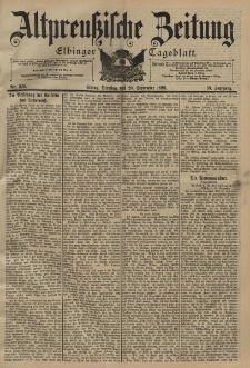 Altpreussische Zeitung, Nr. 220 Dienstag 20 September 1898, 50. Jahrgang