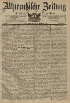 Altpreussische Zeitung, Nr. 222 Donnerstag 22 September 1898, 50. Jahrgang
