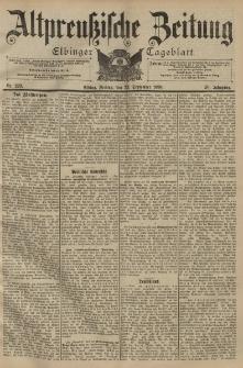 Altpreussische Zeitung, Nr. 223 Freitag 23 September 1898, 50. Jahrgang