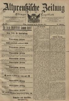 Altpreussische Zeitung, Nr. 224 Sonnabend 24 September 1898, 50. Jahrgang