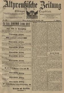 Altpreussische Zeitung, Nr. 225 Sonntag 25 September 1898, 50. Jahrgang