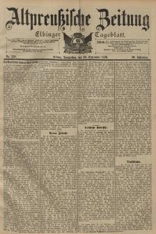 Altpreussische Zeitung, Nr. 228 Donnerstag 29 September 1898, 50. Jahrgang