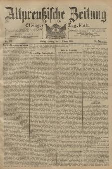 Altpreussische Zeitung, Nr. 232 Dienstag 4 Oktober 1898, 50. Jahrgang