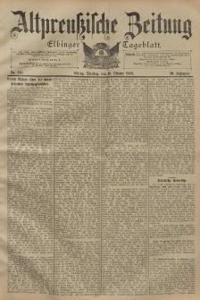 Altpreussische Zeitung, Nr. 244 Dienstag 18 Oktober 1898, 50. Jahrgang