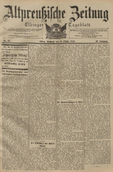 Altpreussische Zeitung, Nr. 251 Mittwoch 26 Oktober 1898, 50. Jahrgang