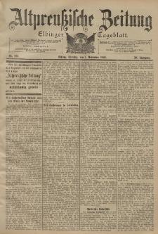 Altpreussische Zeitung, Nr. 256 Dienstag 1 November 1898, 50. Jahrgang