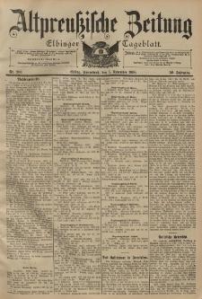 Altpreussische Zeitung, Nr. 260 Sonnabend 5 November 1898, 50. Jahrgang