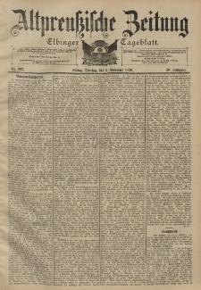 Altpreussische Zeitung, Nr. 262 Dienstag 8 November 1898, 50. Jahrgang