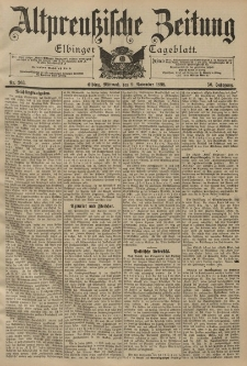Altpreussische Zeitung, Nr. 263 Mittwoch 9 November 1898, 50. Jahrgang