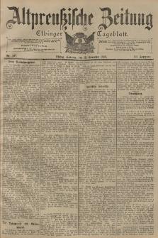 Altpreussische Zeitung, Nr. 267 Sonntag 13 November 1898, 50. Jahrgang