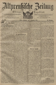 Altpreussische Zeitung, Nr. 269 Mittwoch 16 November 1898, 50. Jahrgang