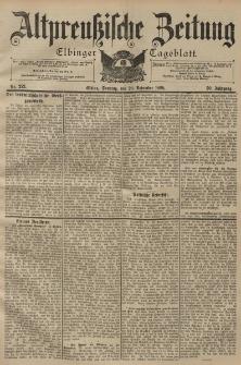 Altpreussische Zeitung, Nr. 272 Sonntag 20 November 1898, 50. Jahrgang