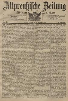 Altpreussische Zeitung, Nr. 273 Dienstag 22 November 1898, 50. Jahrgang