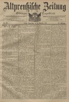 Altpreussische Zeitung, Nr. 275 Donnerstag 24 November 1898, 50. Jahrgang