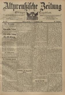 Altpreussische Zeitung, Nr. 279 Dienstag 29 November 1898, 50. Jahrgang