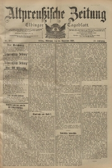 Altpreussische Zeitung, Nr. 280 Mittwoch 30 November 1898, 50. Jahrgang