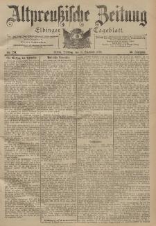 Altpreussische Zeitung, Nr. 291 Dienstag 13 Dezember 1898, 50. Jahrgang