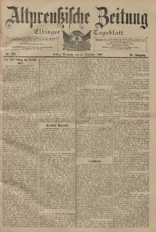 Altpreussische Zeitung, Nr. 292 Mittwoch 14 Dezember 1898, 50. Jahrgang