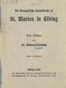 Die evangelische Hauptkirche zu St.Marien in Elbing