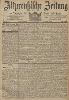 Altpreussische Zeitung, Nr. 4 Mittwoch 6 Januar 1892, 44. Jahrgang