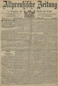Altpreussische Zeitung, Nr. 5 Donnerstag 07 Januar 1892, 44. Jahrgang