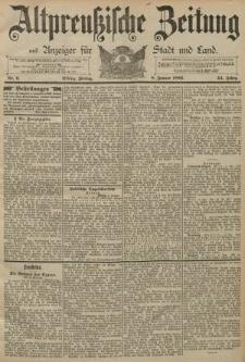 Altpreussische Zeitung, Nr. 6 Freitag 8 Januar 1892, 44. Jahrgang