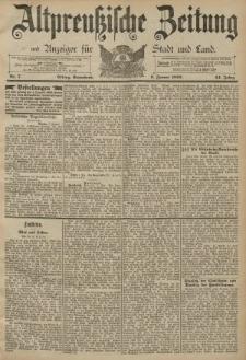 Altpreussische Zeitung, Nr. 7 Sonnabend 9 Januar 1892, 44. Jahrgang