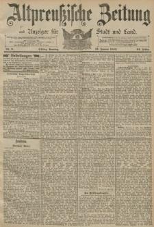 Altpreussische Zeitung, Nr. 8 Sonntag 10 Januar 1892, 44. Jahrgang