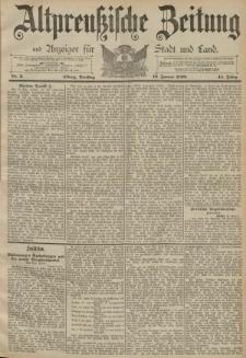 Altpreussische Zeitung, Nr. 9 Dienstag 12 Januar 1892, 44. Jahrgang