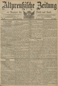 Altpreussische Zeitung, Nr. 11 Donnerstag 14 Januar 1892, 44. Jahrgang
