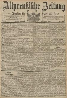 Altpreussische Zeitung, Nr. 13 Sonnabend 16 Januar 1892, 44. Jahrgang