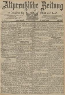 Altpreussische Zeitung, Nr. 14 Sonntag 17 Januar 1892, 44. Jahrgang