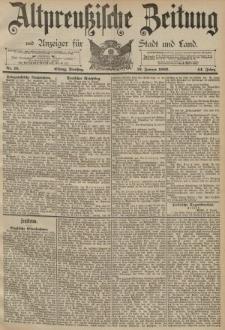 Altpreussische Zeitung, Nr. 15 Dienstag 19 Januar 1892, 44. Jahrgang