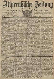 Altpreussische Zeitung, Nr. 16 Mittwoch 20 Januar 1892, 44. Jahrgang