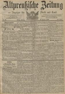 Altpreussische Zeitung, Nr. 18 Freitag 22 Januar 1892, 44. Jahrgang