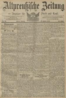 Altpreussische Zeitung, Nr. 20 Sonntag 24 Januar 1892, 44. Jahrgang
