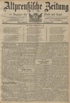 Altpreussische Zeitung, Nr. 22 Mittwoch 27 Januar 1892, 44. Jahrgang