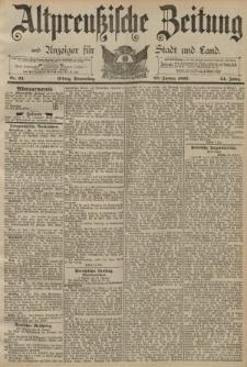 Altpreussische Zeitung, Nr. 23 Donnerstag 28 Januar 1892, 44. Jahrgang