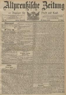 Altpreussische Zeitung, Nr. 25 Sonnabend 30 Januar 1892, 44. Jahrgang