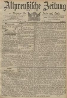 Altpreussische Zeitung, Nr. 26 Sonntag 31 Januar 1892, 44. Jahrgang