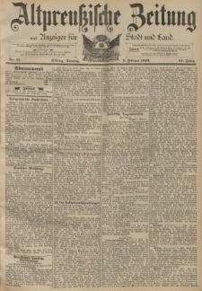 Altpreussische Zeitung, Nr. 33 Dienstag 9 Februar 1892, 44. Jahrgang