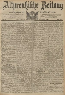 Altpreussische Zeitung, Nr. 34 Mittwoch 10 Februar 1892, 44. Jahrgang
