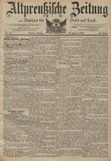 Altpreussische Zeitung, Nr. 45 Dienstag 23 Februar 1892, 44. Jahrgang