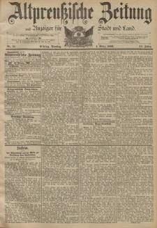 Altpreussische Zeitung, Nr. 51 Dienstag 1 März 1892, 44. Jahrgang