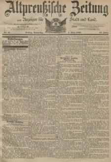 Altpreussische Zeitung, Nr. 53 Donnerstag 3 März 1892, 44. Jahrgang