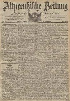 Altpreussische Zeitung, Nr. 62 Sonntag 13 März 1892, 44. Jahrgang