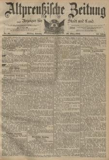 Altpreussische Zeitung, Nr. 68 Sonntag 20 März 1892, 44. Jahrgang
