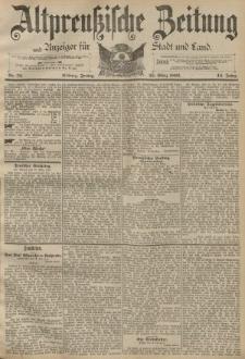 Altpreussische Zeitung, Nr. 72 Freitag 25 März 1892, 44. Jahrgang